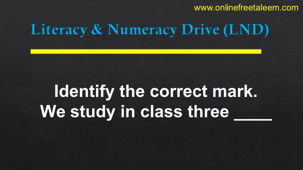 LND English Test 8