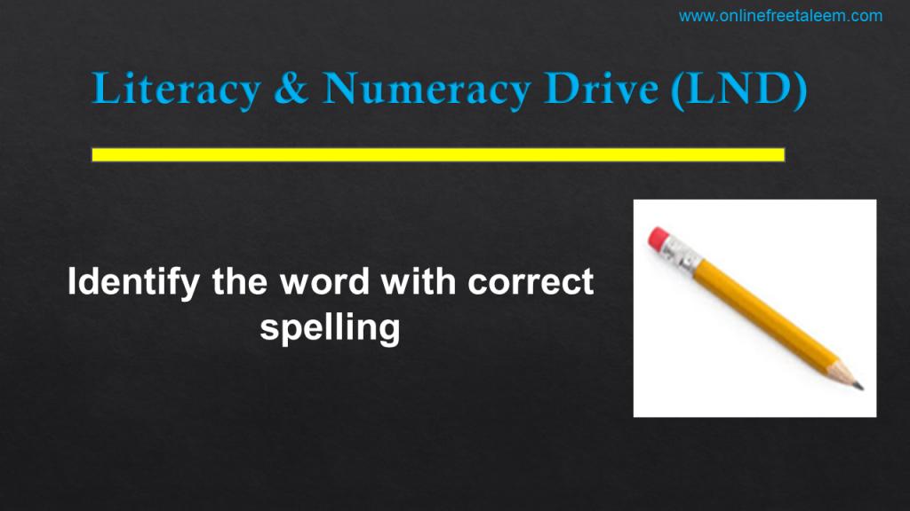 LND English Test No.7